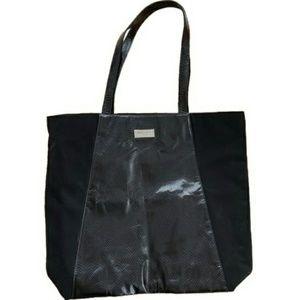 Jimmy Choo Black Snakeskin Tote Bag